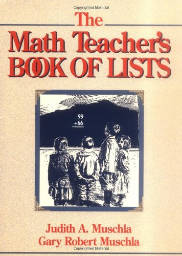 9780131803572: The Math Teacher's Book of Lists