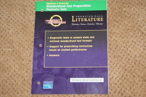 9780131803923: Diagnose & Prescribe Standardized Test Preparation: Diagnostic Tests - World Masterpieces (Prentice Hall Literature - Timeless Voices, Timeless Themes)