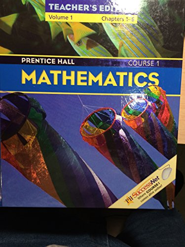 9780131807570: Prentice Hall, Mathematics Course 1 Volume 2 Chapters 1-7 Teacher Edition, 2004 ISBN: 0131807579