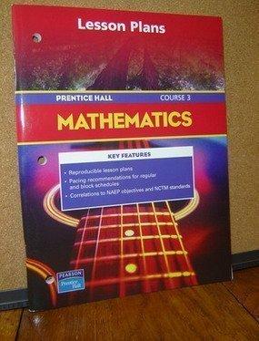 9780131809291: Lesson Plans (Mathematics, Course 3)