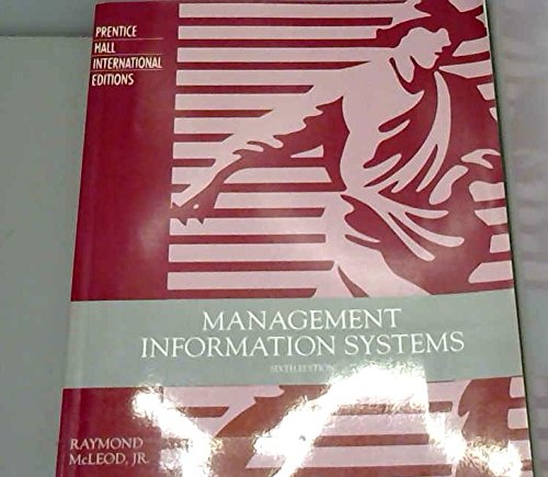9780131809512: Management Information Systems: A Study of Computer-Based Information Systems