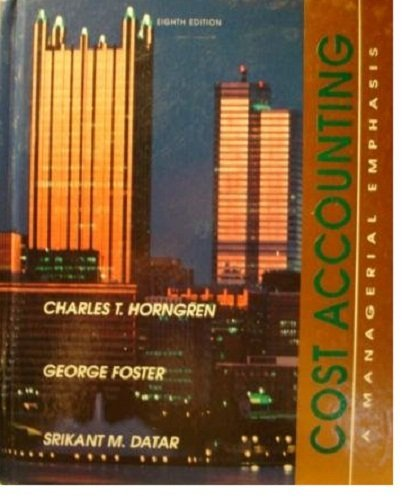 9780131810662: Cost Accounting: A Managerial Emphasis (Prentice Hall Series in Accounting)