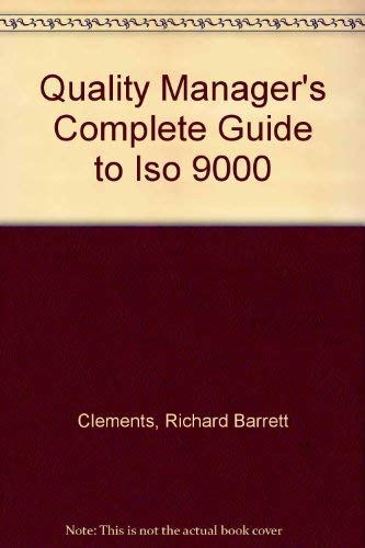 9780131814059: Quality Manager's Complete Guide to Iso 9000
