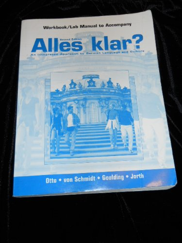 9780131825482: Alles Klar?: Workbook/Lab Manual: An Integrated Approach to German Language and Culture