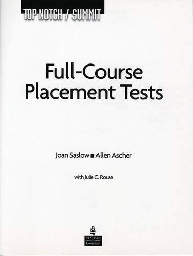 9780131826397: Top Notch/Summit Full Course Placement Tests with Audio CD