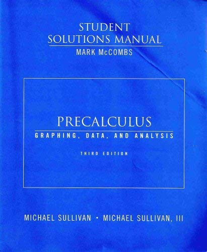 9780131827905: Student Solutions Manual