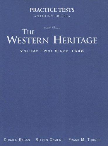 9780131828629: Practice Tests, Volume II (Western Heritage Since 1648)