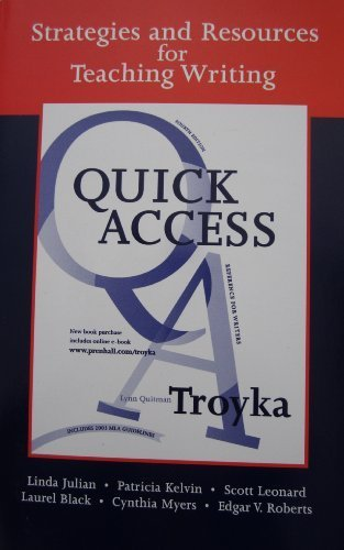 Strategies and Resources for Teaching Writing with: Lynn Quitman Troyka,