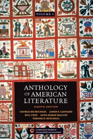 9780131829541: Anthology of American Literature, Vol. 1