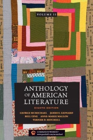 9780131829596: Anthology of American Literature, Vol. 2