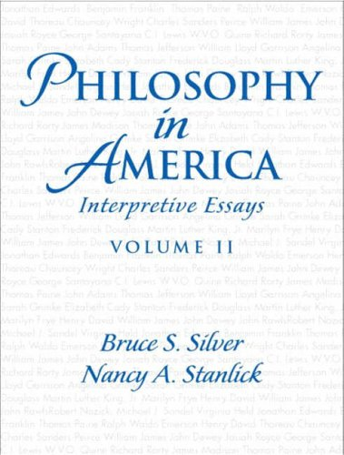 9780131833067: Philosophy in America: v. 2: Interpretive Essays