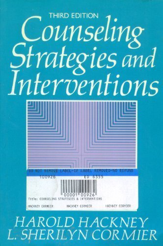 Counselling Strategies and Objectives: Harold Hackney, L.Sherilyn Cormier