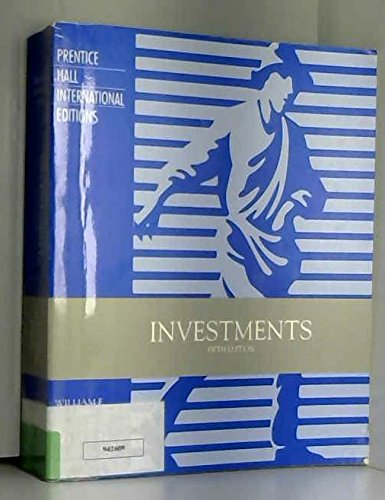 Investments: Sharpe, William F.