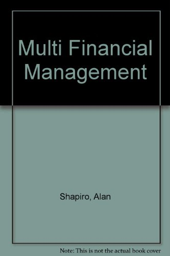 Multi Financial Management (0131834436) by Alan Shapiro