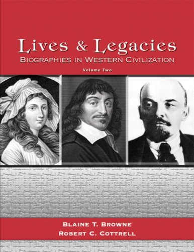 9780131836327: Lives and Legacies: Biographies in Western Civilization, Volume 2
