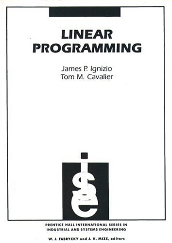 Linear Programming Format: Paperback: Ignizio, James P.Cavalier,