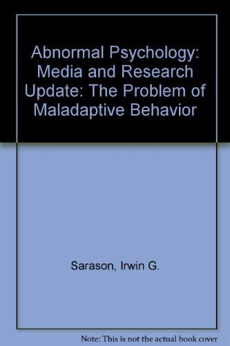 9780131842670: Abnormal Psychology: The Problem of Maladaptive Behavior: Media and Research Update
