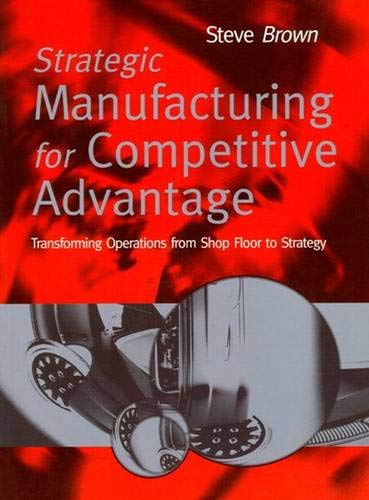 Strategic Manufacturing for Competitive Advantage: Transforming Operations From Shop (013184508X) by Steve Brown