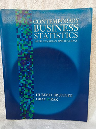 9780131846807: Contemporary Business Statistics