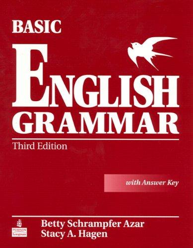 9780131849372: Basic English Grammar: Student Book with Answer Key (Azar English Grammar)
