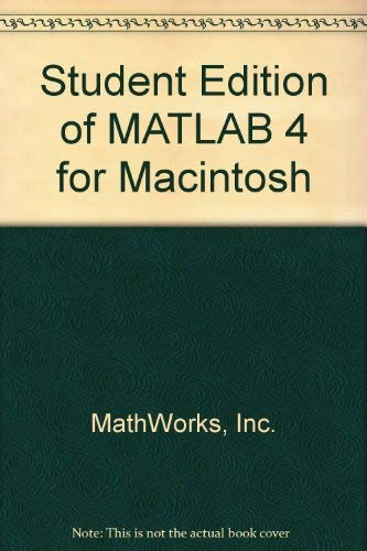 9780131849877: Matlab Version 4.0 for Macintosh