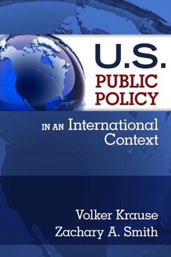 9780131849969: U.S. Public Policy in an International Context