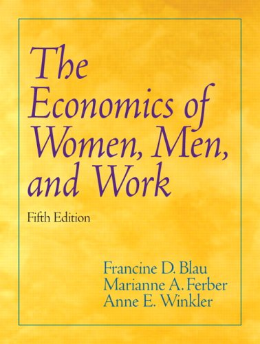 9780131851542: Economics of Women, Men, and Work (5th Edition)