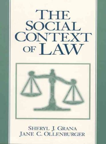 9780131853645: The Social Context of Law