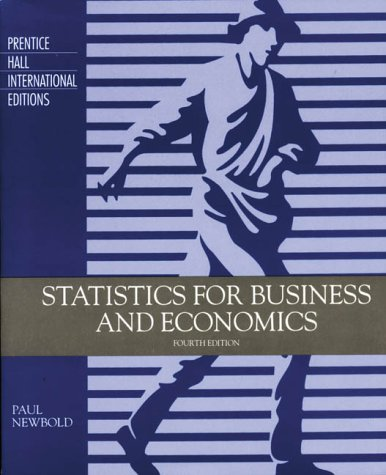 9780131855540: Statistics for Business and Economics (Prentice Hall international editions)