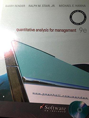 quantitative analysis for management: JR. MICHAEL E.