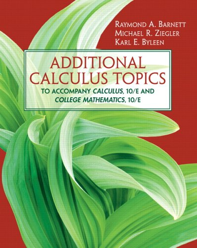 9780131856820: Additional Calculus Topics (9th Edition)