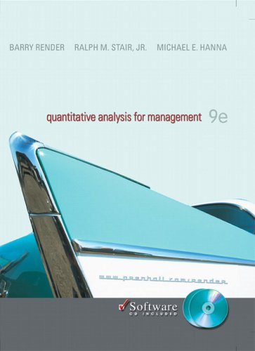 9780131857025: Quantitative Analysis for Management with CD (9th Edition)