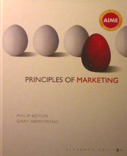 9780131857803: Principles of Marketing, 11th