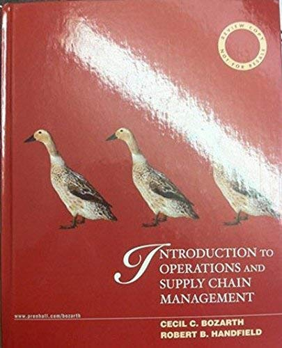 9780131858046: Introduction to Operations and Supply Chain Management (Review Copy Not For Resale)