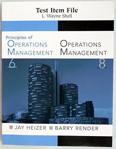 9780131858978: Test Item File,principles of Operations Management,6ed., Operations Management 8th Ed.