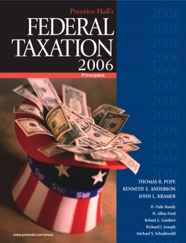 9780131859227: Prentice Hall's Federal Taxation 2006: Principles (19th Edition) (Prentice Hall's Federal Taxation Individuals)