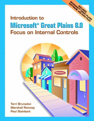 9780131860643: Introduction to Microsoft Great Plains 8.0: Focus on Internal Controls