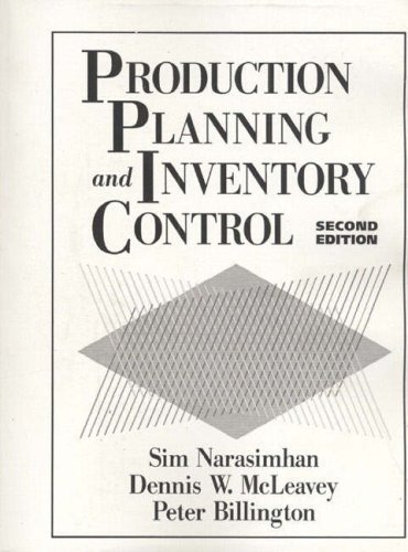Production Planning and Inventory Control: Seetharama L. Narasimhan,