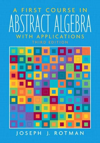 9780131862678: A First Course in Abstract Algebra (3rd Edition)