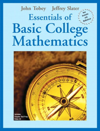9780131862944: Essentials of Basic College Mathematics (Tobey/Slater Wortext Series)