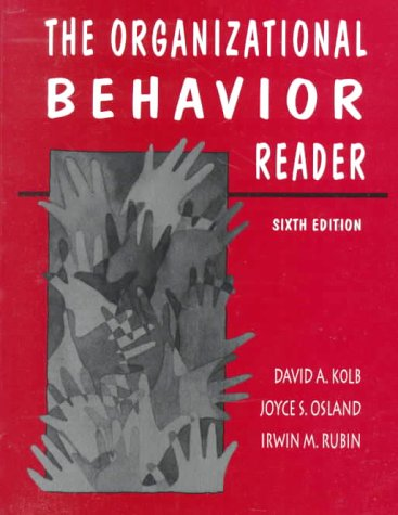 Organizational Behavior Reader, The (9780131864870) by David A. Kolb; Joyce S. Osland