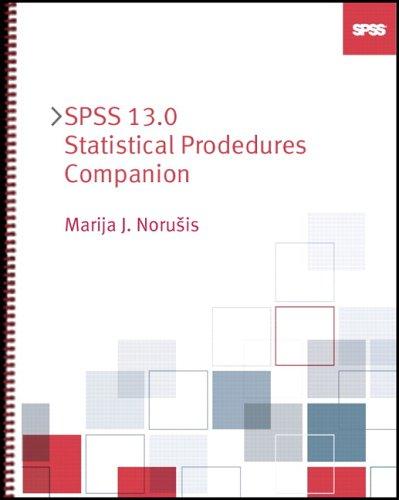 9780131865396: SPSS 13.0 Statistical Procedures Companion