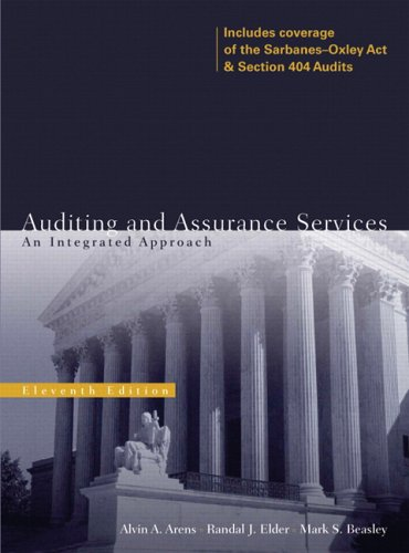 9780131867123: Auditing and Assurance Services: An Integrated Approach (11th Edition)