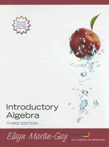 Introductory Algebra: K.Elayn Martin-Gay