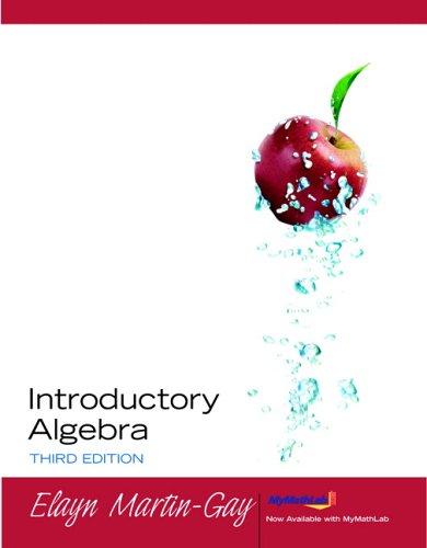 9780131868434: Introductory Algebra (Martin-Gay Developmental Math)