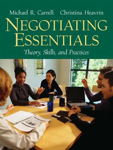 9780131868663: Negotiating Essentials: Theory, Skills, and Practices