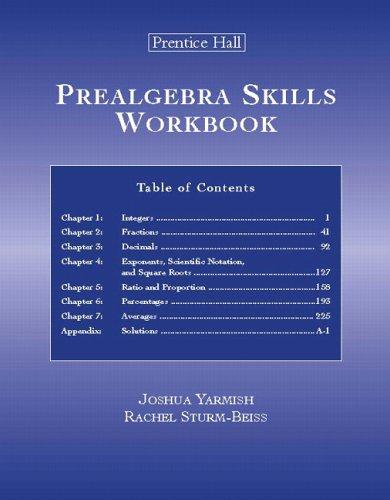 9780131869202: Prealgebra Skills Workbook