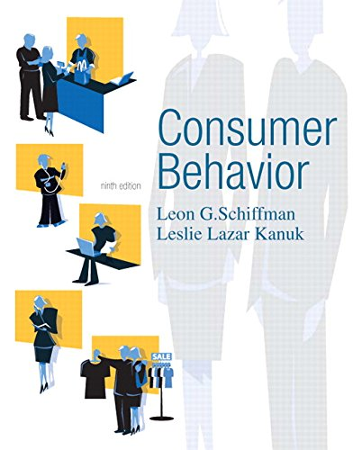 Consumer behavior by leon schiffman abebooks consumer behavior kanuk leslie schiffman fandeluxe Image collections