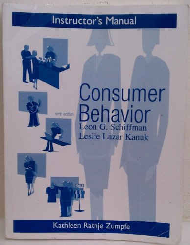 9780131869646: Instructor's Manual Consumer Behavior 9th Edition