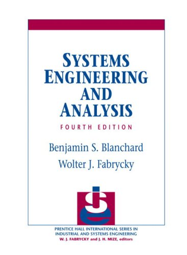 9780131869776: Systems Engineering and Analysis (Prentice-Hall International Series in Systems & Control Engineering)